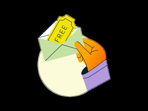 Free mail coupon Illustration