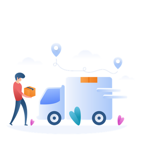 Free Shipping Illustration
