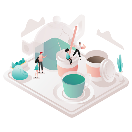 Free Tea and Coffee Illustration