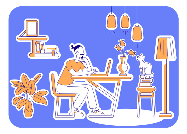 Free time at home Illustration