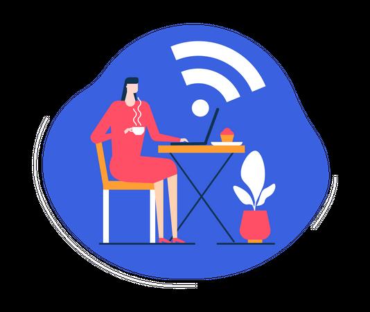 Free wifi Illustration