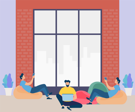 Free work culture Illustration