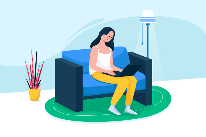 Free Working Space Illustration