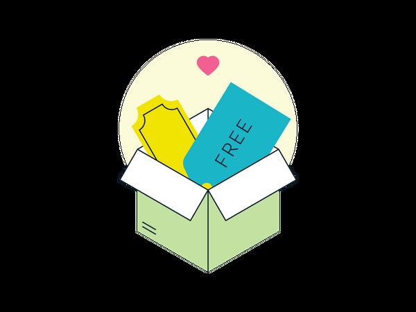 Freebies box Illustration