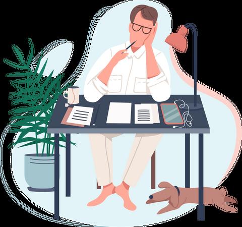 Freelance writer Illustration