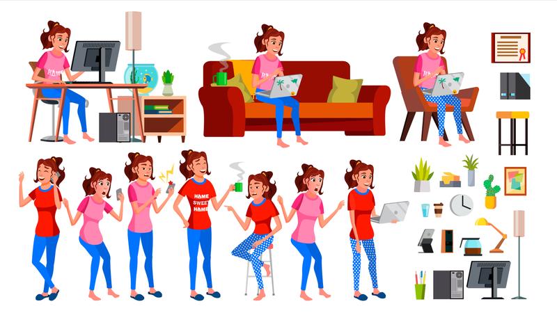 Freelancer Worker Illustration