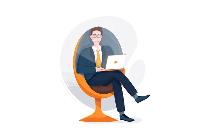 Freelancing job Illustration