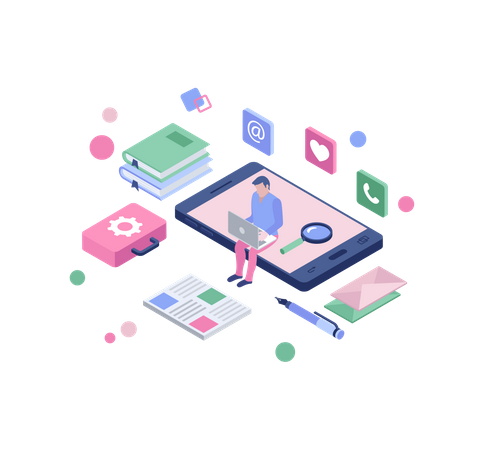 Freelancing service Illustration