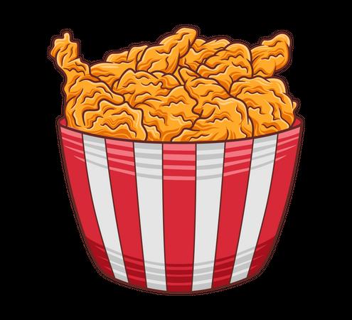Fried Chicken Illustration