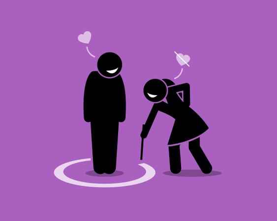Friend Zone Concept Illustration Illustration