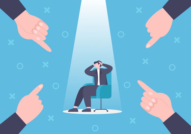 Frustrated businessman due to loss Illustration