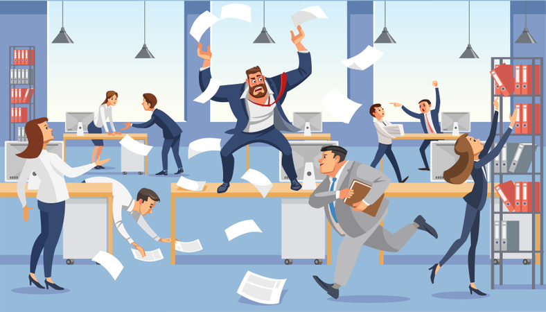 Frustrated CEO and Boss Illustration