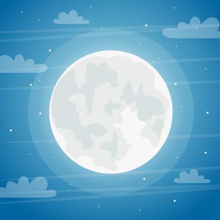 Full moon night Illustration