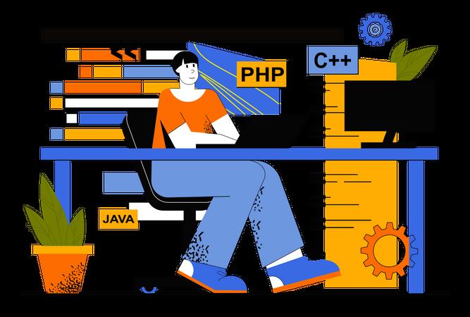 Full Stack Developer Illustration