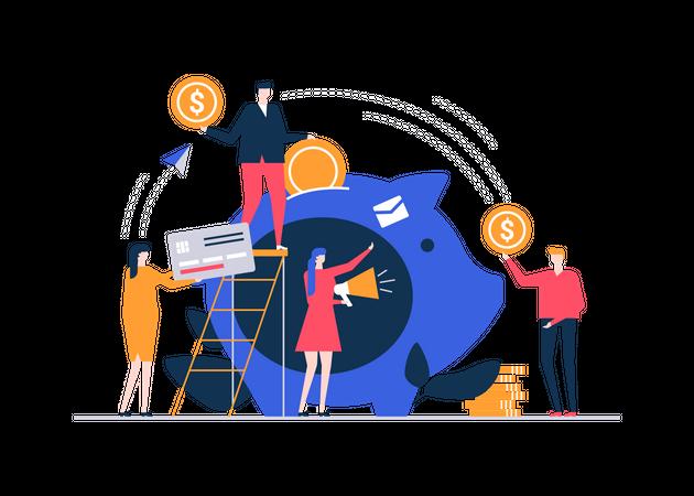 Fundraising concept Illustration