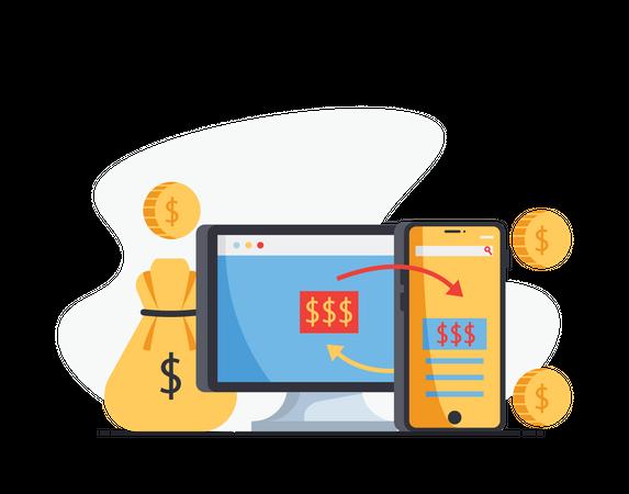 Funds transfer Illustration
