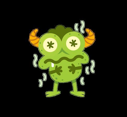 Funny Frog Monster Illustration