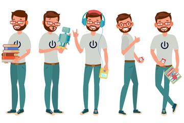 Geek Man Stock Images