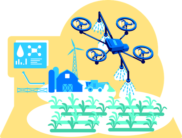Futuristic irrigation Illustration