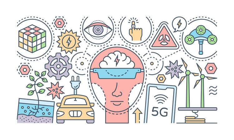 Futuristic Technologies Illustration