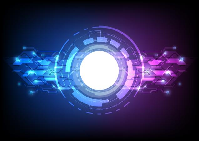 Futuristic User Interface Illustration