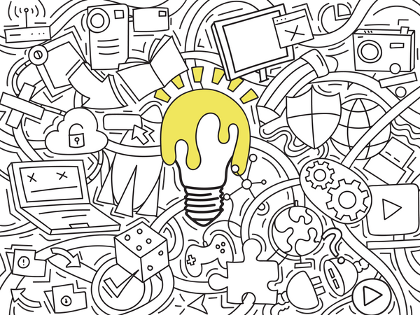 Gadgets Doodle art Illustration