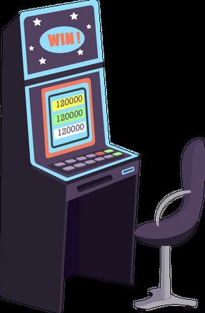 Gambling machine Illustration