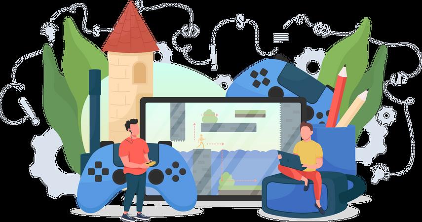 Game designer Illustration