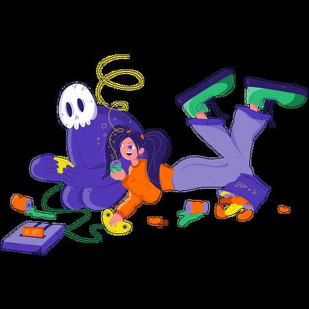 Game With Stranger Illustration