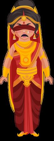 Gandhari Illustration