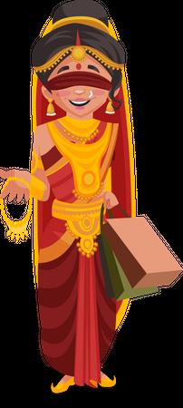 Gandhari doing shopping Illustration