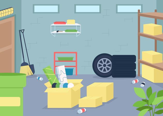 Garage junk Illustration