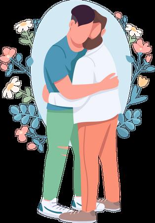 Gay couple Illustration