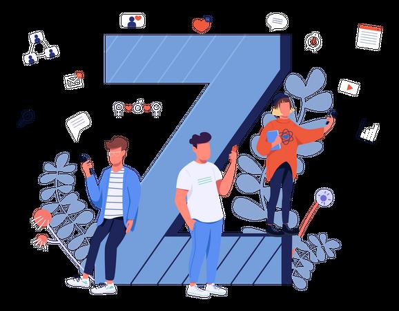 Gen Z Communication Illustration
