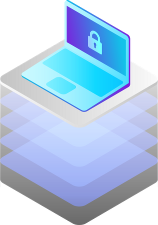 General protection security data regulation and Technology Illustration