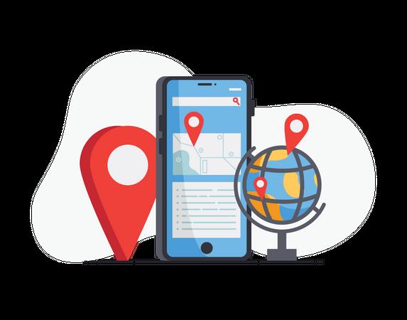 Geo location Illustration