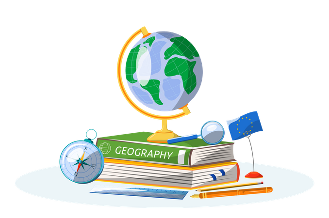 Geography book Illustration