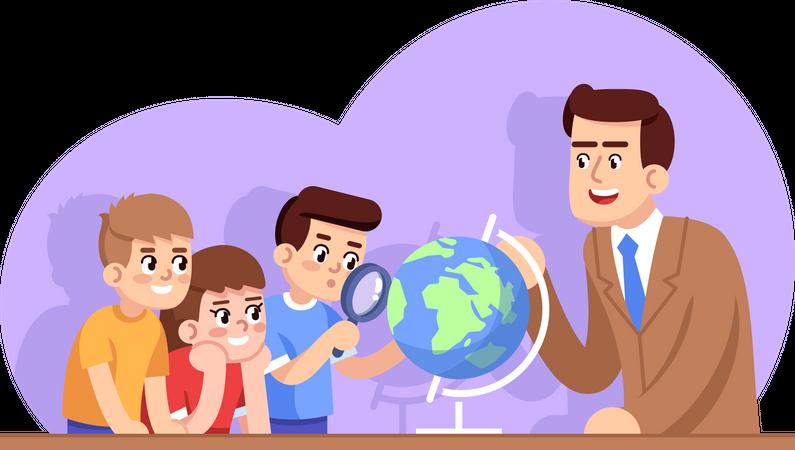 Geography lesson Illustration