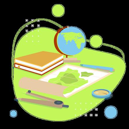Geography Study Illustration