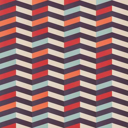 Geometric seamless chevron pattern in retro colors Illustration