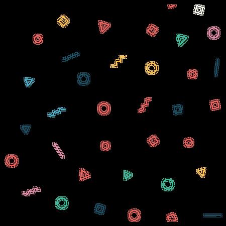 Geometry shapes  seamless pattern Illustration