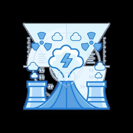 Geothermal Plant Illustration