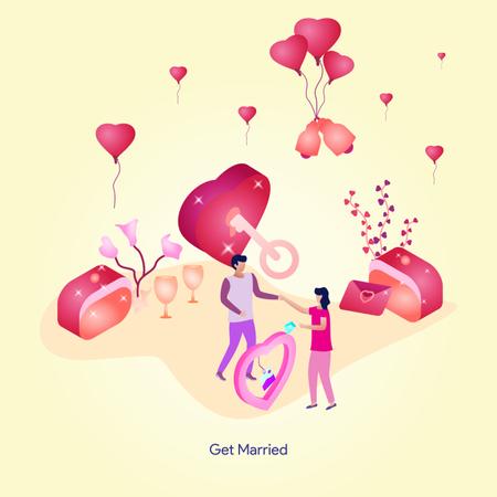 Get Married Illustration