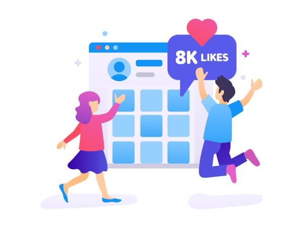 Get More Likes Illustration