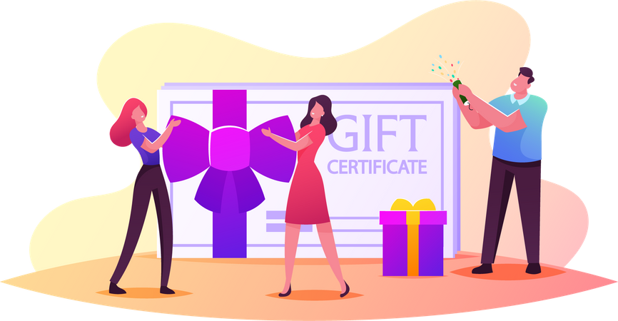 Gift Certificate and Sale Illustration