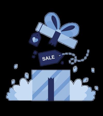Gift in sale Illustration