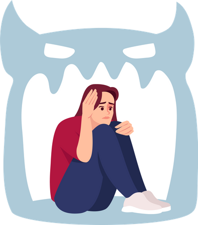 Girl with psychosis Illustration