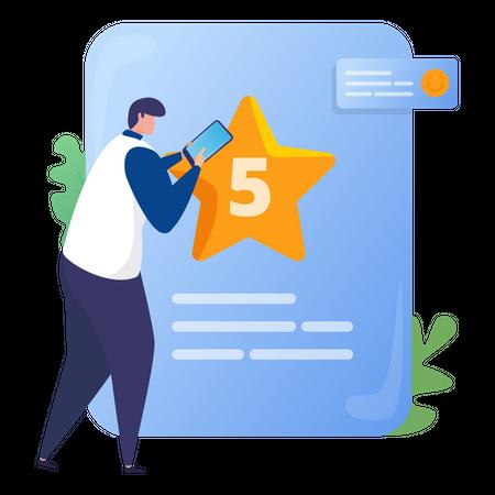 Give 5 stars rating Illustration