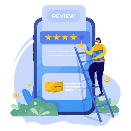 Give five stars ratings Illustration