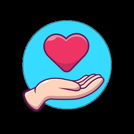 Giving heart Illustration